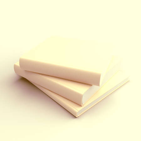 dissolve: Books dissolve in a beige background  Abstraction
