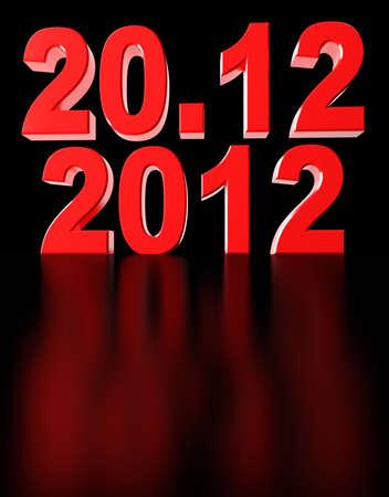 Date of doomsday on December 2012. 3d render illustration Stock Illustration - 15495834