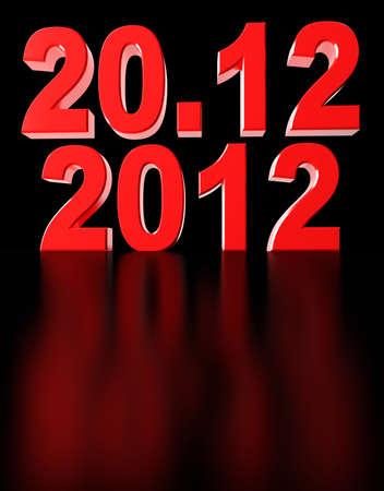 Date of doomsday on December 2012. 3d render illustration Stock Illustration - 15495834