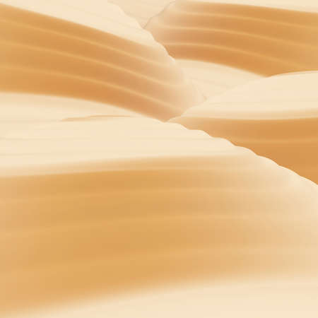 Sand-dunes. Desert. 3d render illustration illustration