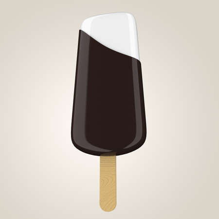 Chocolate ice-cream on a wooden stick photo