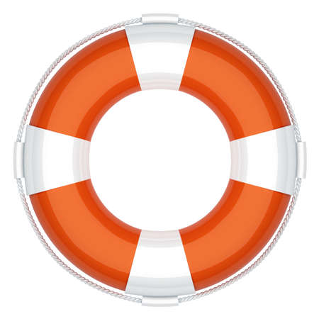 raft: Life buoy. First aid. 3d render illustration