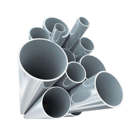 Lot of folded steel pipes Фото со стока - 15495827