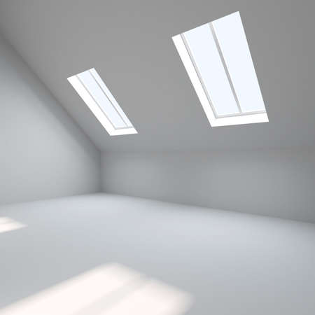 Interior. Empty room is in a mansard Stock Photo - 15223309