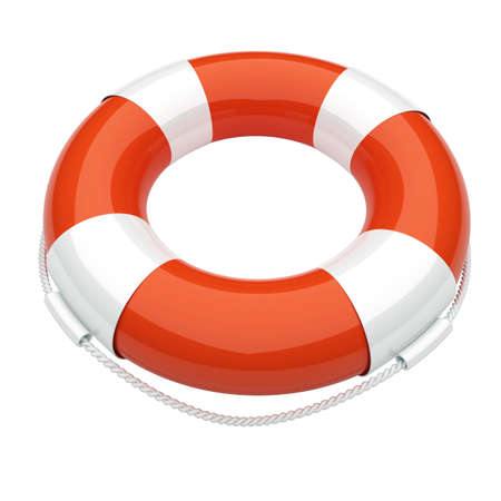 life ring: Life buoy. Conception of the first aid. 3d render illustration Stock Photo
