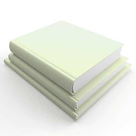 magazine stack: Pile of chlorine books on a white background Stock Photo