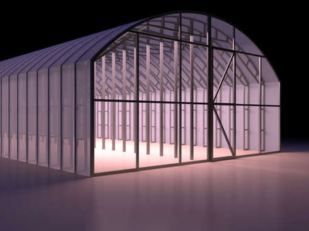 Storage facilities. 3d render illustration illustration