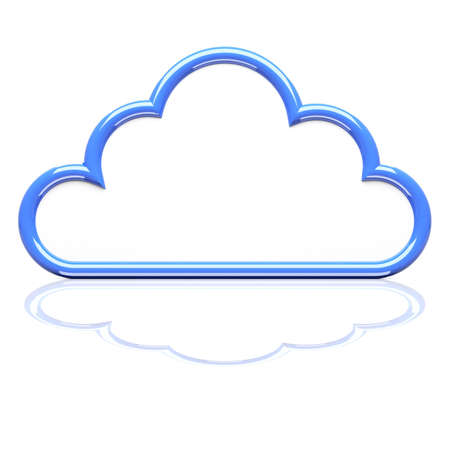 wheather forecast: Cloud icon on white. 3d render illustration