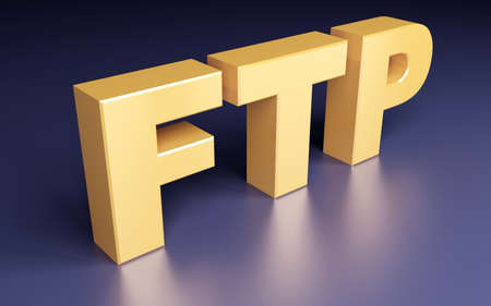 ftp: Ftp Sign. File Transfer Protocol. 3d concept  Stock Photo