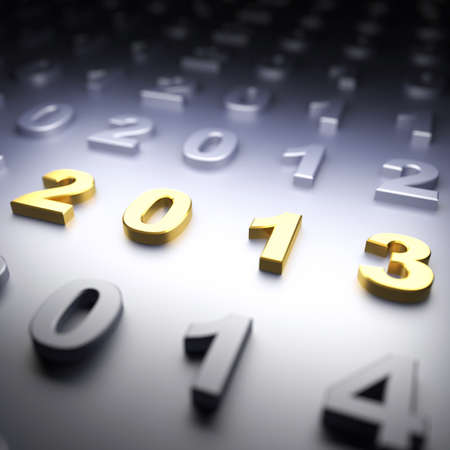 New Year 2013. 3d render illustration illustration