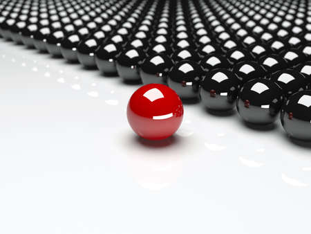Red ball ahead of black balls  Conception of leadership
