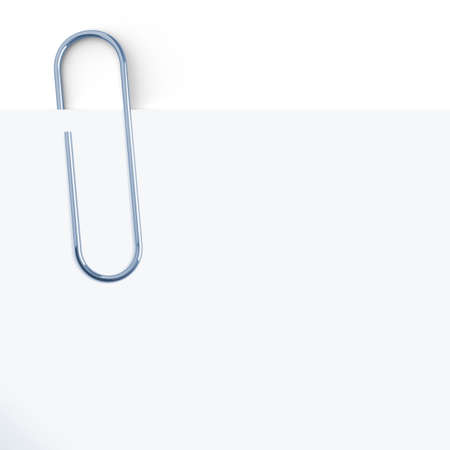 paper fastener: Paper clip at white background  3d render illustration