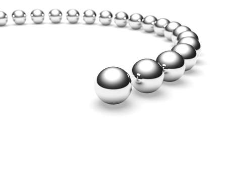 individuality: Grey balls  Conception of leadership  3d render