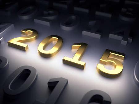 New Year 2015. 3d render illustration illustration