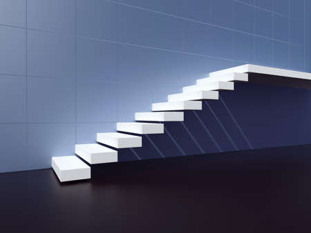staircase: Staircase. 3d render illustration Stock Photo