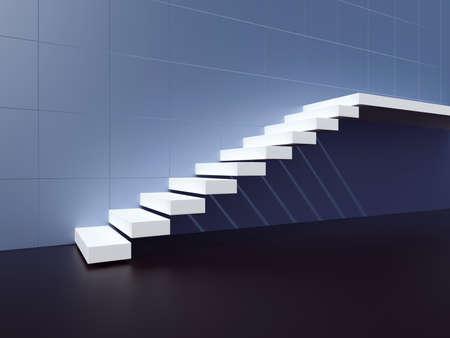 Staircase. 3d render illustration Фото со стока