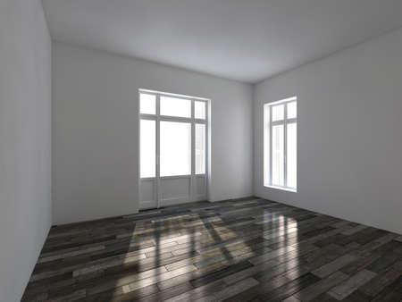 Empty room. 3d render interior