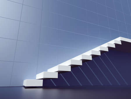 Stair. Staircase. 3d render illustration
