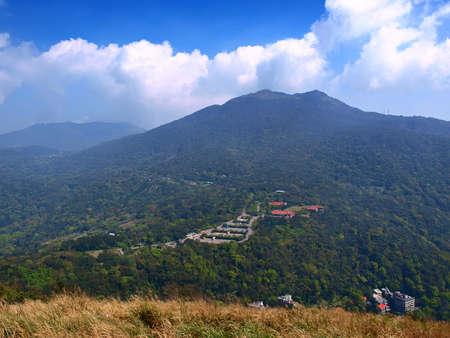 extinct volcano in Taipei, Taiwan, Yangmingshan Nationl Park  Stock Photo
