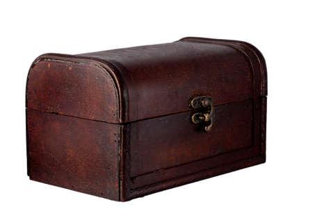 contoured: caja de madera cerrada cerrada  Foto de archivo