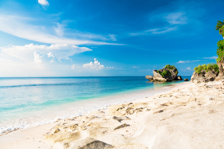 Tropical beach with blue ocean and blue sky in tropical island Reklamní fotografie