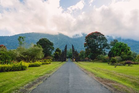 Landscape with tradition Balinese architecture in Bali 写真素材