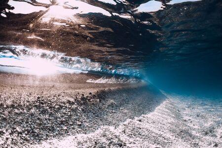 Tropical ocean with sandy bottom underwater in Hawaii