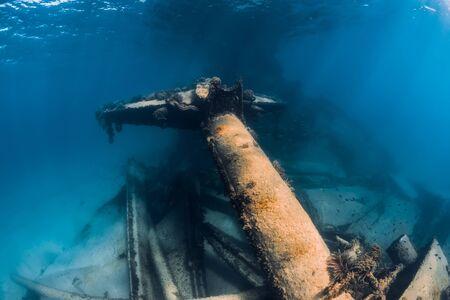 Telamon wreck ship underwater in blue ocean near Arrecife, Lanzarote Stock Photo
