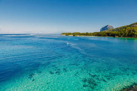 Ocean view nearly Maconde point in Mauritius Island.