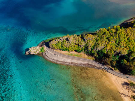Maconde point from Aerial View. Popular touristic place in Mauritius Foto de archivo