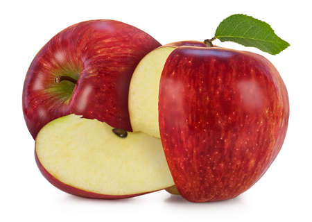 Jonagored is crispy conical shaped apple with streaky red blush.