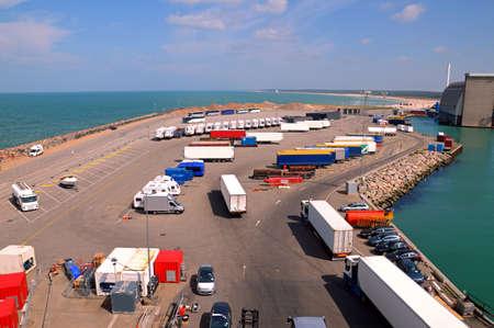 hirtshals: Parking of a ferry terminal
