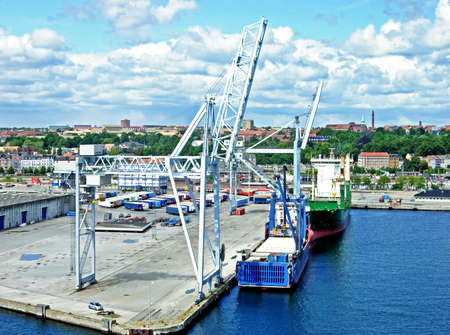 freeport: Port of Aarhus in Denmark