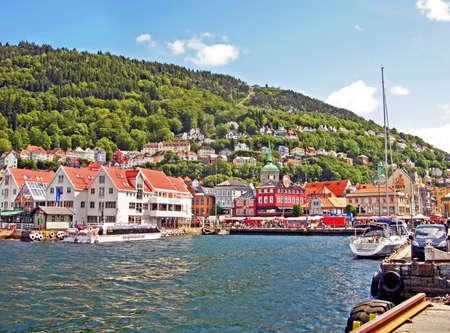 Port of Bergen in Norway