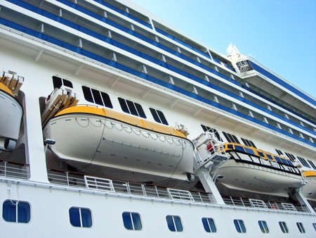stateroom: Large cruise ship Stock Photo