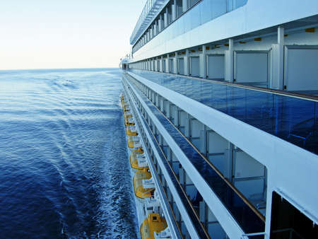 stateroom: Large cruise ship at sea