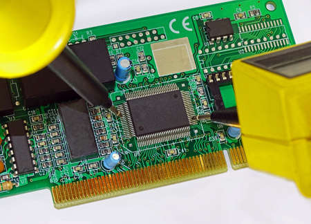 printed circuit: Measurement on a printed circuit board.