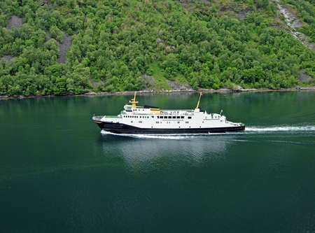 Ferry boat in Geiranger (Norway)
