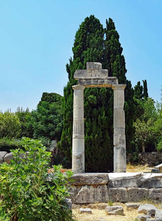 Remains of the ancient city of Kos in Greece