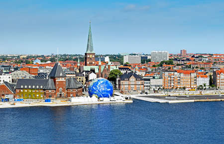 Cityscape of Aarhus in Denmark Stock Photo