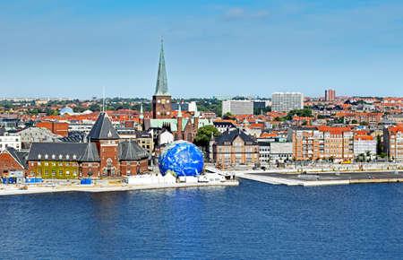Stadsgezicht van Aarhus in Denemarken