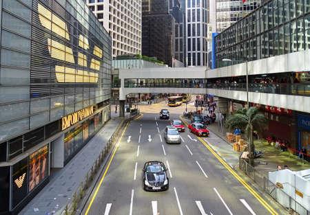 Central, Hong Kong - February 09, 2016: Pedder Street in Hong Kong, Hong Kong, Hong Kong. Editorial