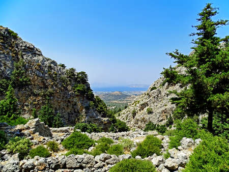 Landscape of the island of Kos in Greece