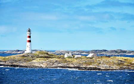 Lighthouse Oksøy fyr south of Kristiansand in Norway