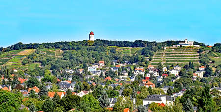 View over the village Altkoetzschenbroda in Saxony, Germany