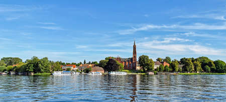 Malchow Monastery on Lake Malchow in Mecklenburg-Vorpommern (Germany) Stock Photo