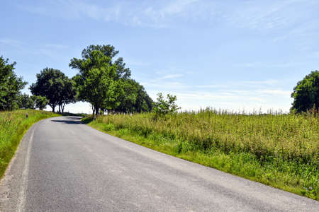 Small country road in Mecklenburg-West Pomerania (Germany) 版權商用圖片