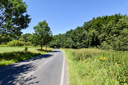 Small country road in Mecklenburg-West Pomerania (Germany) Stock Photo