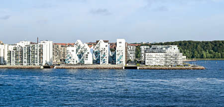 Modern residential buildings at the port of Aarhus in Denmark