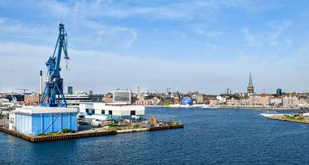 Cityscape of Aarhus in Denmark 版權商用圖片 - 142981341